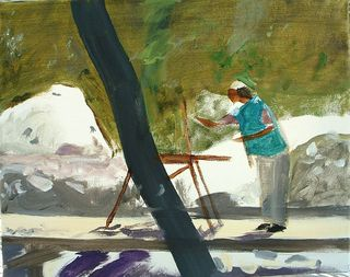 Barb painting in Medera Canyon 2