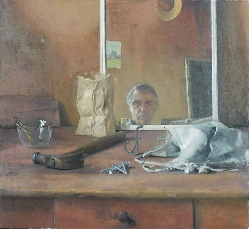 Lennart Anderson (Self Portrait with Hammer and Nails)