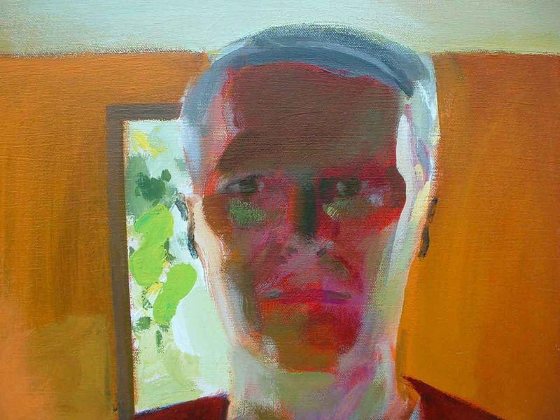 Self Portrait in Maine Studio-1