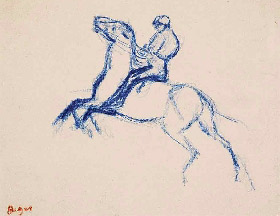 Degas horse drawing 2-1