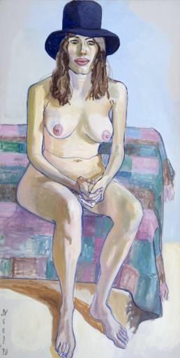 Alice Neel painting Kitty Pearson '73