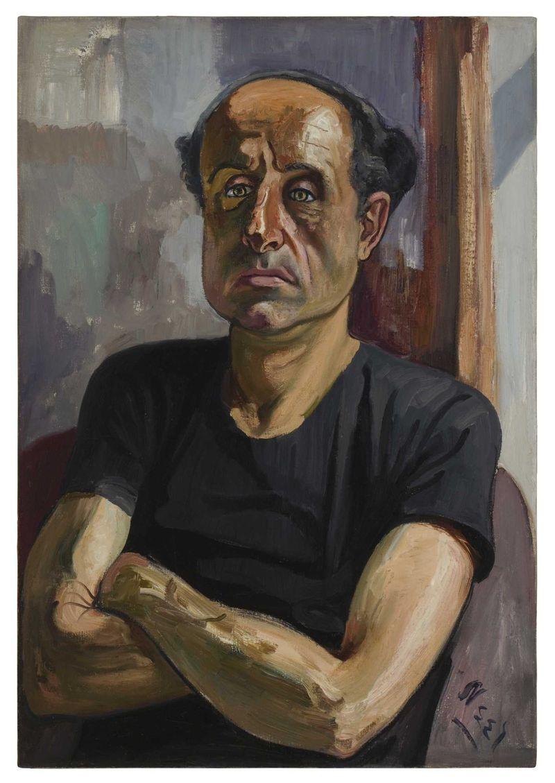 Alice-neel-portrait-of-sam-oil-on-canvas-from-the-estate-of-alice-neel