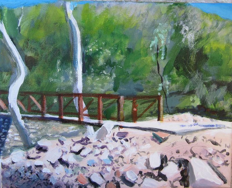 Madera Canyon bridge and Sycamores 10 x 8-1