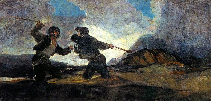 Goya - A Fogjt with Cudgels