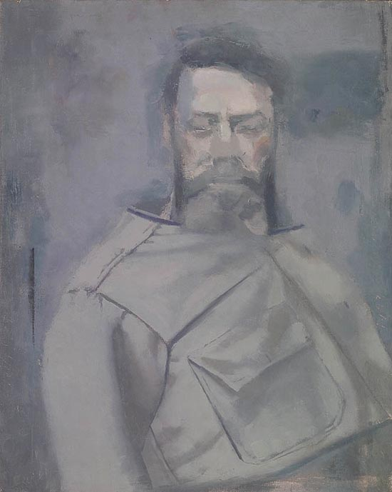 Dickenson, Self Portrait in Gray Shirt, 1943