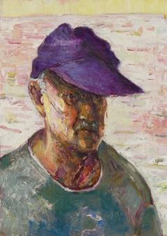 Bernard Chaet Purple Hat 1992 10 x 14 inches