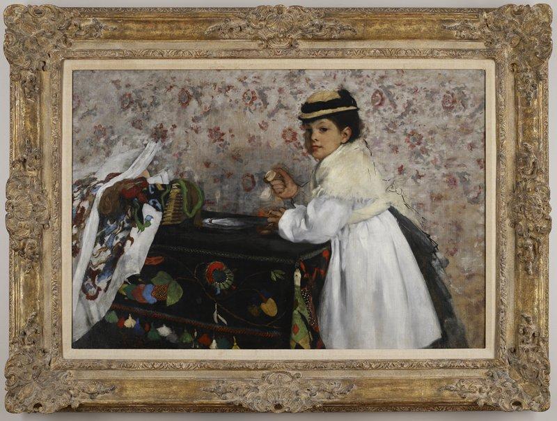 Degas, Portrait of Mlle. Horrtense Valpingon