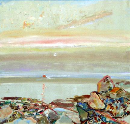 Bernard Chaet Lazy Sun 1980-84 40x42 Inches oc